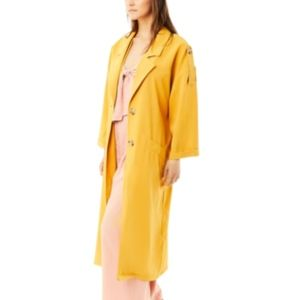 Moon River Jackets & Coats - yellow relaxed long blazer